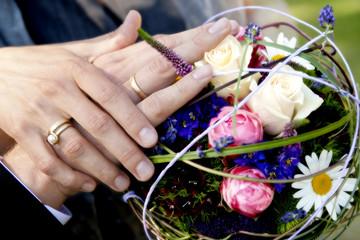 Wedding, Brautstrauss, Ringe