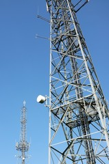 Antenna and communication towers.