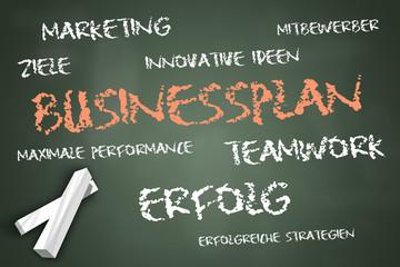 """Schreibtafel """"Businessplan"""""""