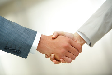 Handshake after striking deal