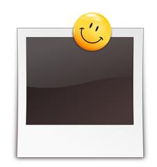 Polaroid mit Smiley