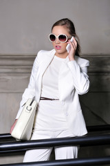 beauty, businesswomen, career, phone, success