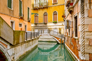 Wall Mural - Small bridge in Venice