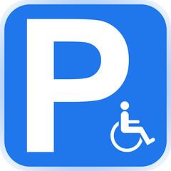 Schild Parkplatz Behinderte