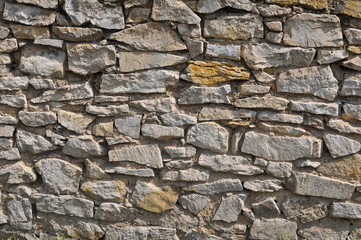 Wall of stone - background