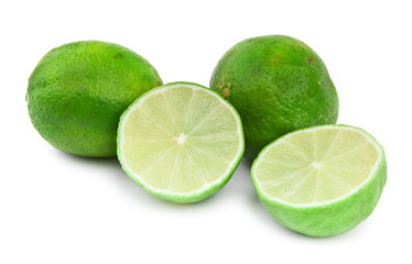 lime fruit on white
