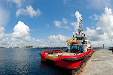 Large tugboat in port of Stavanger, Norway.