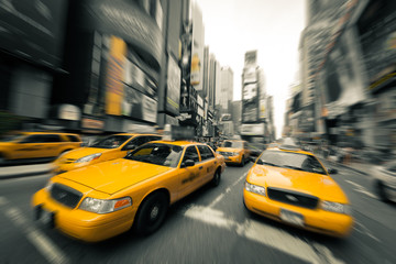 Wall Mural - New York taxis
