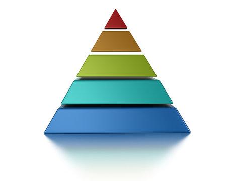 3D pyramid 5 levels