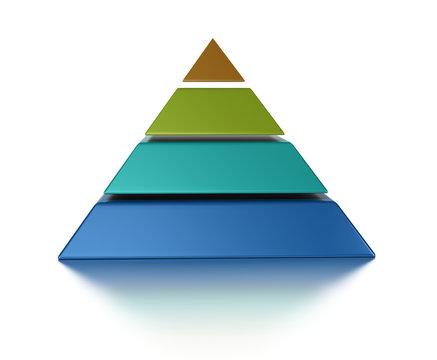 3D pyramid 4 levels