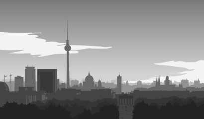 Berlin-Skyline, Illustration