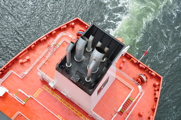 Schornstein vom Frachtschiff