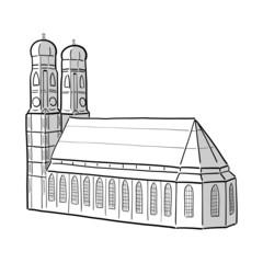 zeichnung frauenkirche münchen II