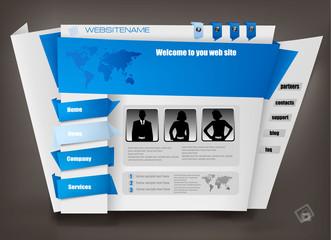 Business website design template. Vector illustration.