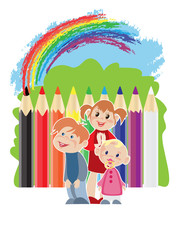Canvas Prints Rainbow Childhood