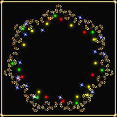 Golden garland with stars