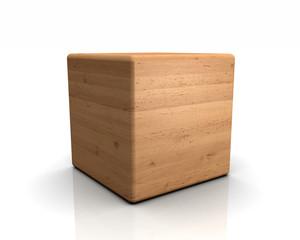 3D Holzwürfel abgerundet - 01 Erle