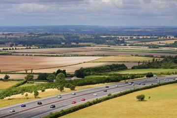 Motorway through an English landscape