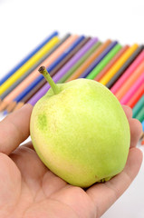 Pear and color pencils