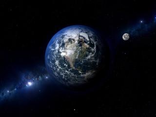 Earth Moon North America