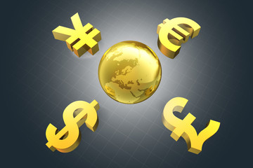 Euro Pfund Dollar Yen