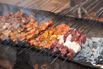 Barbecue : Brochettes de viande