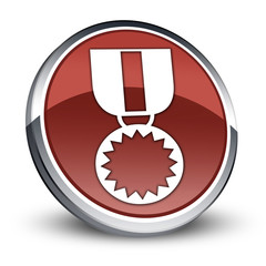 """Red 3D Style Icon """"Award Medal"""""""