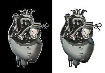 Mechanical chrome heart