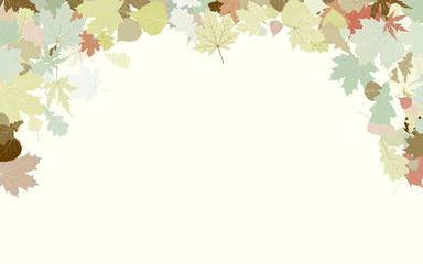 Background with frame with Autumn Leafs. EPS 8