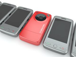 Mobile phones. 3d