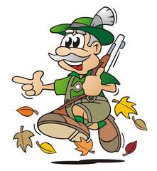 Hunter in Autumn