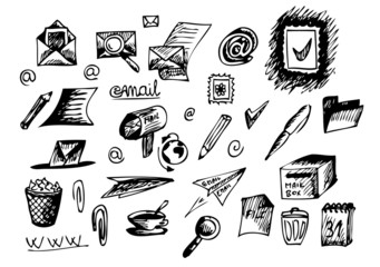 hand drawn operation system icons