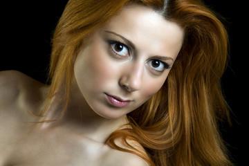Red hair beautiful woman