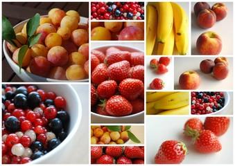 """""""Fruits d'été"""" (prunes fraises cassis groseilles framboises)"""