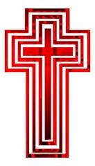 Red metal cross