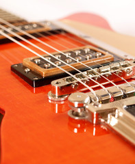 Detail of a vintage guitar