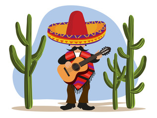 Mexican with Guitar