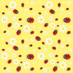 Seamless ladybug pattern