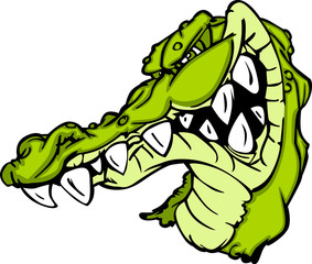 Gator or Alligator Mascot Cartoon