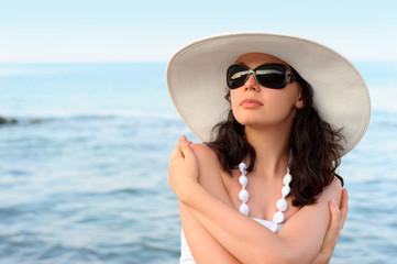 The woman on seacoast