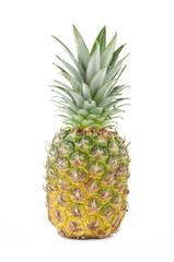 Fresh pineapple isolated on white background .
