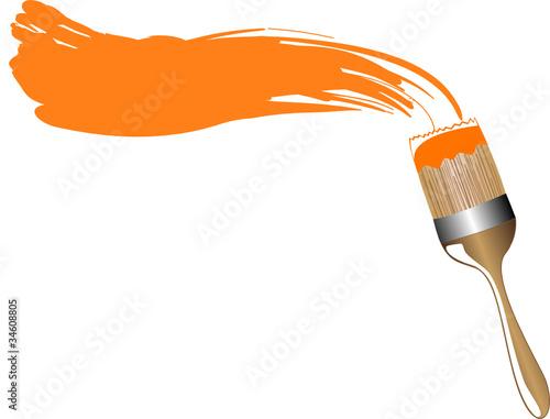 pinsel orangene farbe stockfotos und lizenzfreie vektoren auf bild 34608805. Black Bedroom Furniture Sets. Home Design Ideas