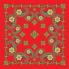 Classic Red Paisley Bandana Design