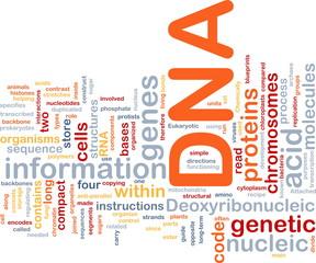 DNA genetic background concept