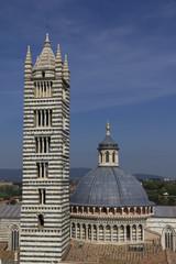 Il campanile e la cupola del duomo di Siena
