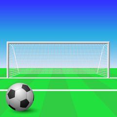 A Soccer Goal with Ball