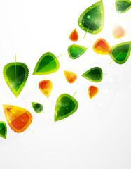 Vector leaf abstract background