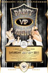VIP Partyflyer Gold