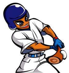 Close-up of man playing baseball