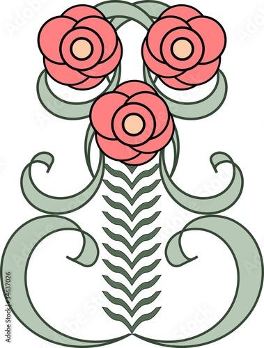 motif floral art nouveau fichier vectoriel libre de droits sur la banque d 39 images. Black Bedroom Furniture Sets. Home Design Ideas